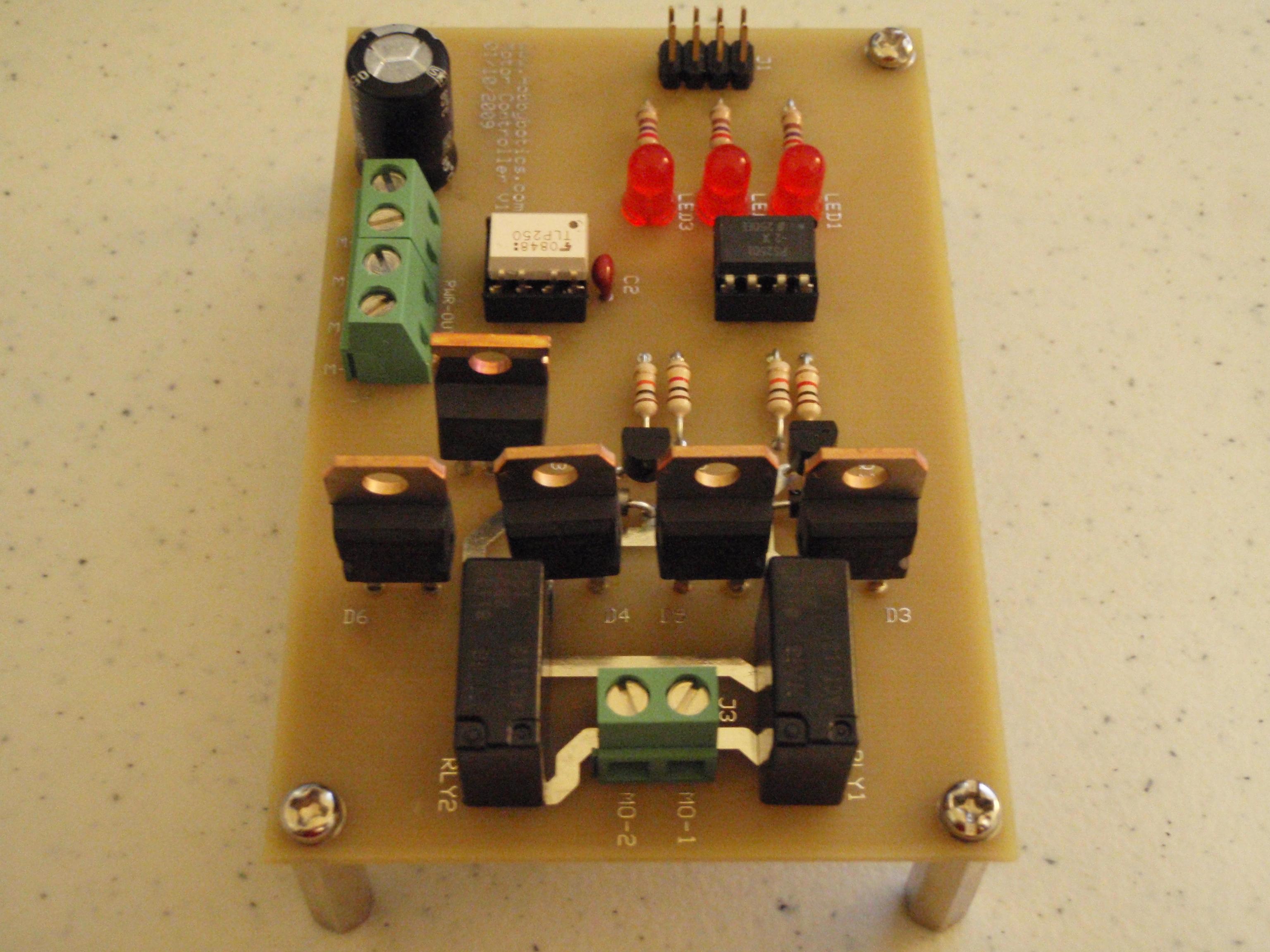 Hobbybotics Motor Controller V10 Control Relay Circuit Specifications