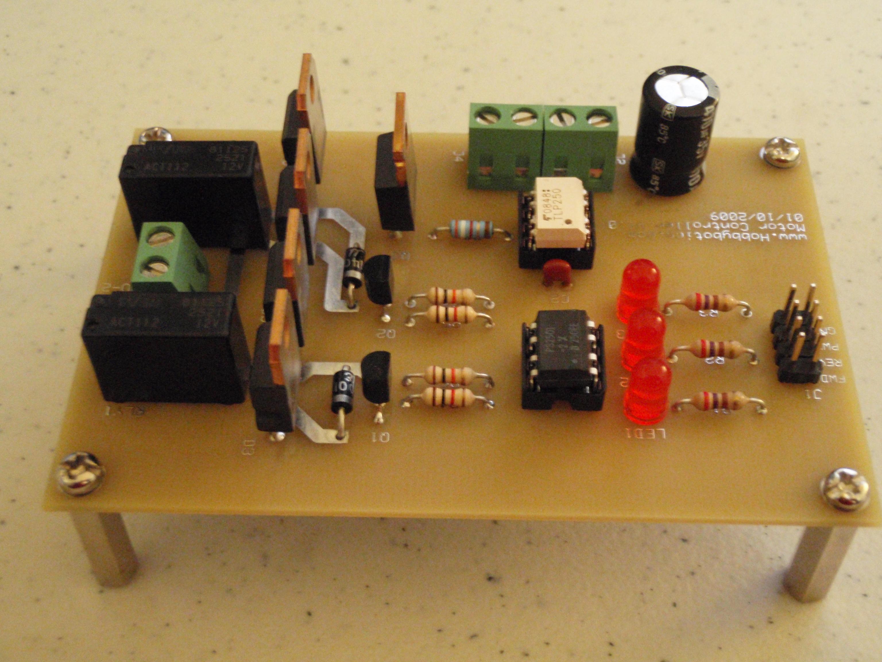 Hobbybotics Motor Controller V10 Bridge Driver Circuit Schematic Specifications