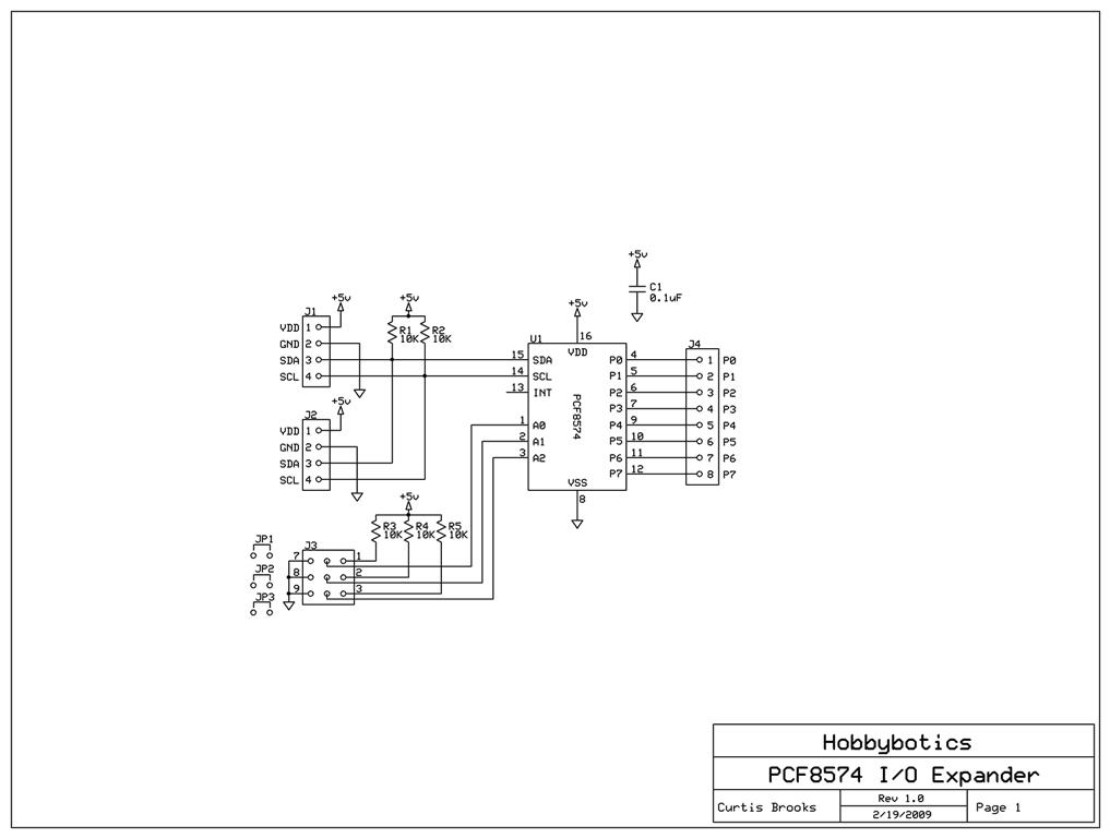 hobbybotics pcf8574a i2c i  o expander