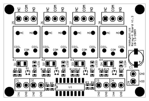 hobbybotics optoisolated relay controller