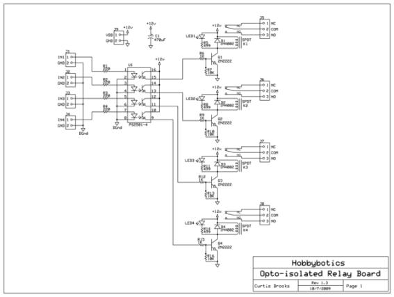 Relay Schematic Diagram Relay Board Schematic