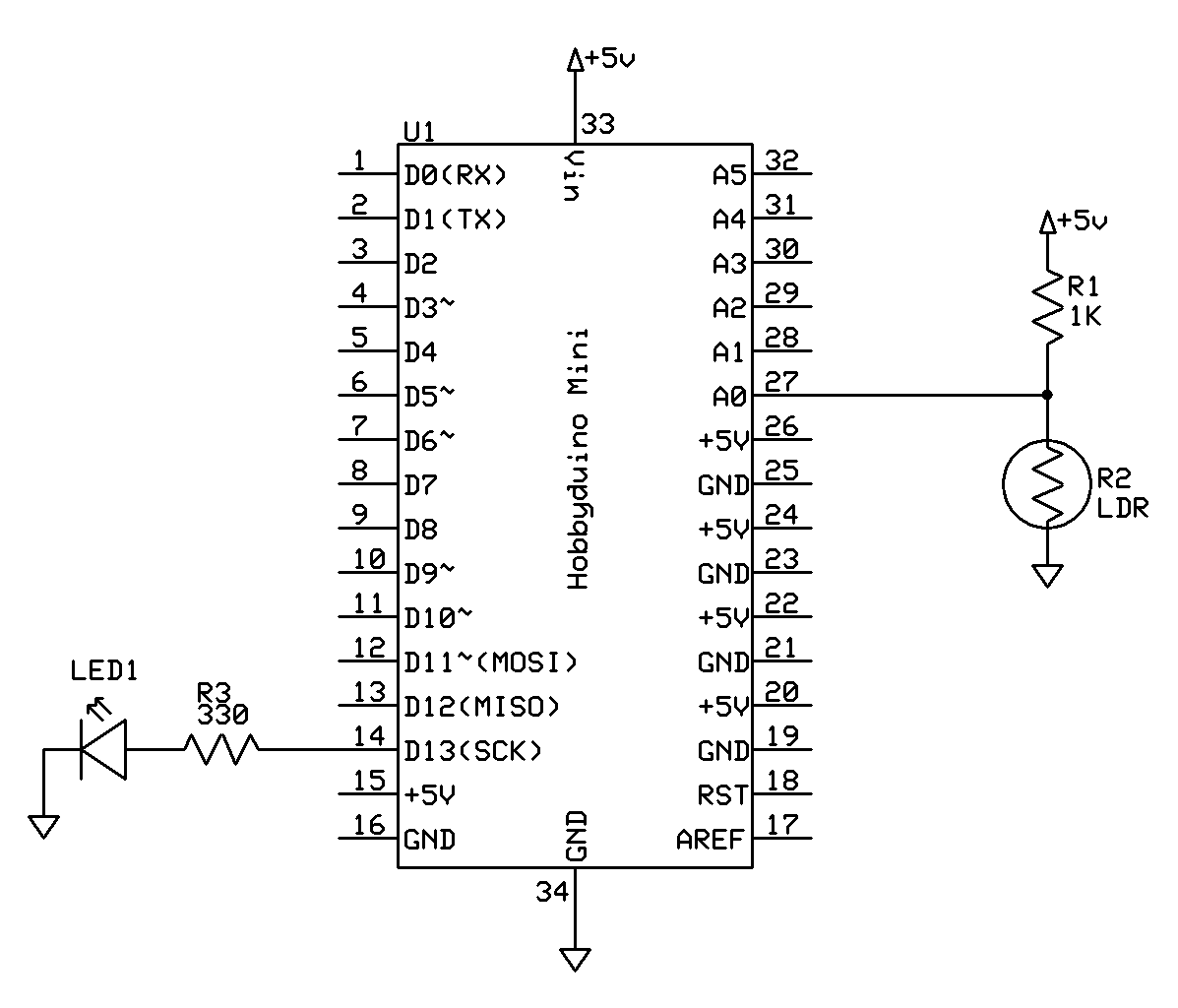 Tutorial – Use a Light Dependent Resistor (LDR) to Measure Light ...