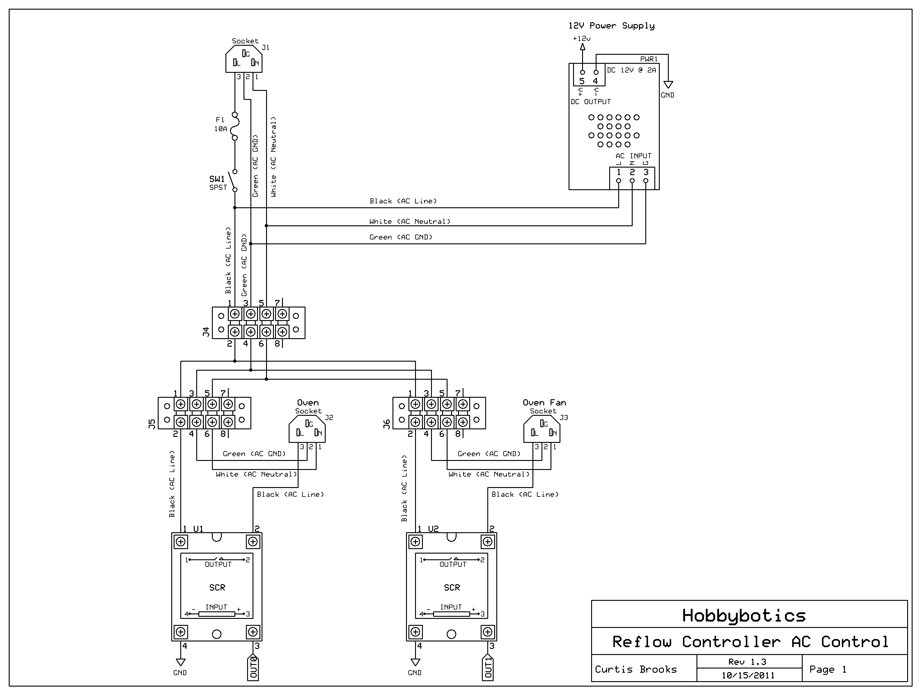Hobbybotics Reflow Controller V803 Household Wiring Diagram 4 Wire Here